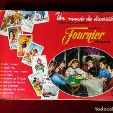 Coleccionismo Álbumes: ALBUM CROMOS INCOMPLETO - UN MUNDO DE DIVERSIÓN CON LOS JUEGOS FOURNIER (FALTAN 198 DE 506 CROMOS). Lote 183251026