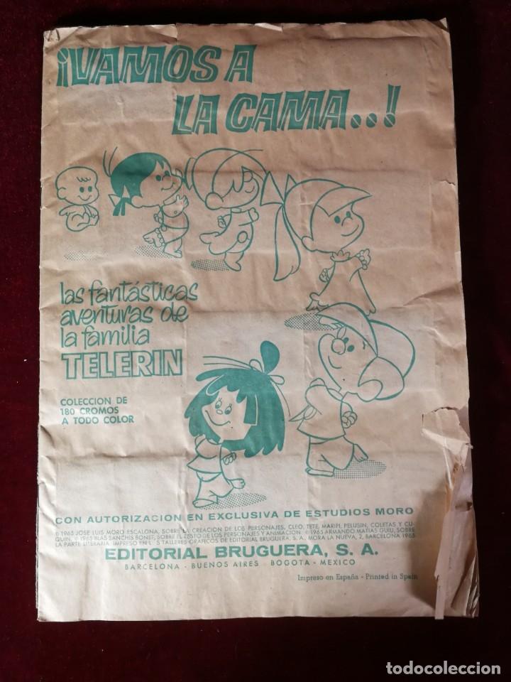 ALBUM CROMOS CASI COMPLETO - BRUGUERA ¡VAMOS A LA CAMA..! TELERIN (FALTAN 17 DE 180 CROMOS) (Coleccionismo - Cromos y Álbumes - Álbumes Incompletos)