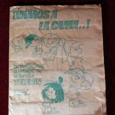 Coleccionismo Álbumes: ALBUM CROMOS CASI COMPLETO - BRUGUERA ¡VAMOS A LA CAMA..! TELERIN (FALTAN 17 DE 180 CROMOS). Lote 183251618