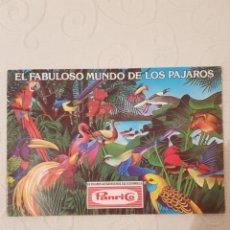 Coleccionismo Álbumes: EL FABULOSO MUNDO DE LOS PAJAROS, PANRICO,1976, A FALTA DE 11 CROMOS PARA COMPLETAR EL ALBUM, MBE. Lote 183846561
