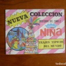 Coleccionismo Álbumes: ALBUM NIÑA OBSEQUIO DEL CHICLE FLEER NUEVA COLECCION 1976 TRAJES TIPICOS DEL MUNDO - VACIO . Lote 183980995
