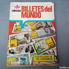 Coleccionismo Álbumes: ALBUM VENEZUELA REYAUCA COLECCION BILLETES DEL MUNDO. CROMOS IMCOMPLETO.. Lote 185886548