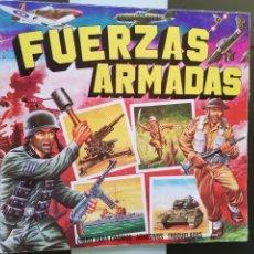 Coleccionismo Álbumes: ÁLBUM CROMOS ED. MAGA FUERZAS ARMADAS. Lote 186090335