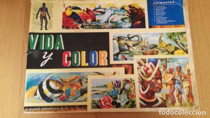 ÁLBUM VIDA Y COLOR (Coleccionismo - Cromos y Álbumes - Álbumes Incompletos)