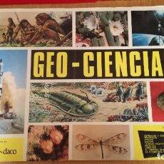 Coleccionismo Álbumes: ÁLBUM GEO-CIENCIAS SOLO FALTAN TRES CROMOS DE 343. Lote 186096895