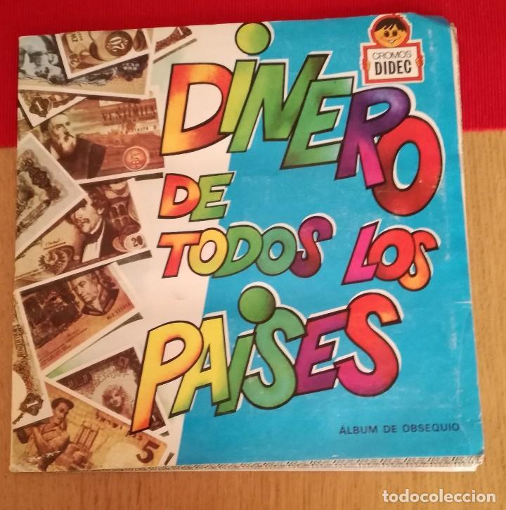 ÁLBUM DINERO DE TODOS LOS PAÍSES (Coleccionismo - Cromos y Álbumes - Álbumes Incompletos)