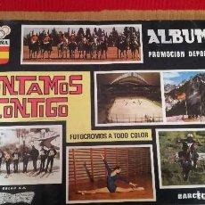 Coleccionismo Álbumes: ÁLBUM CONTAMOS CONTIGO. Lote 186100625