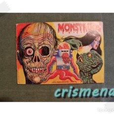 Coleccionismo Álbumes: ALBUM MONSTRUOS MUNDICROM 1986 FALTAN 10 CROMOS VER FOTOS PARA ESTADO. Lote 186160966