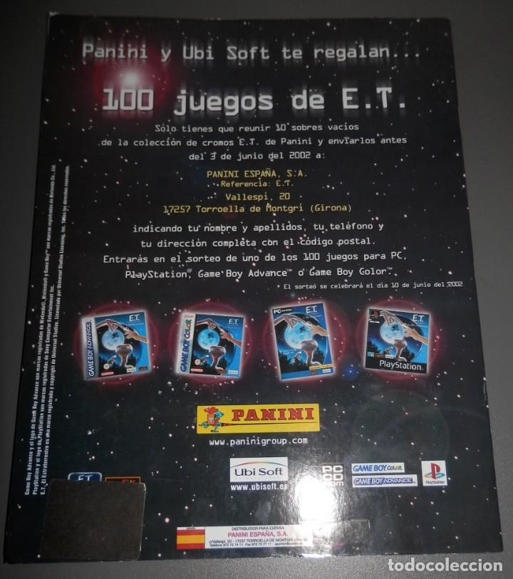Coleccionismo Álbumes: ALBUM DE CROMOS DEL E.T. DE LA PANINI - Foto 2 - 186456173