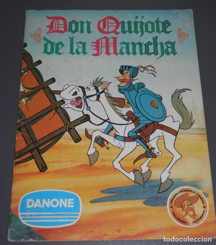 ALBUM DE CROMOS DON QUIJOTE DE LA MANCHA DE LA DANONE (Coleccionismo - Cromos y Álbumes - Álbumes Incompletos)