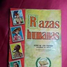 Coleccionismo Álbumes: ÁLBUM DE CROMOS INCOMPLETO. RAZAS HUMANAS. ED. BRUGUERA. FALTAN 2 CROMOS. Lote 186456973