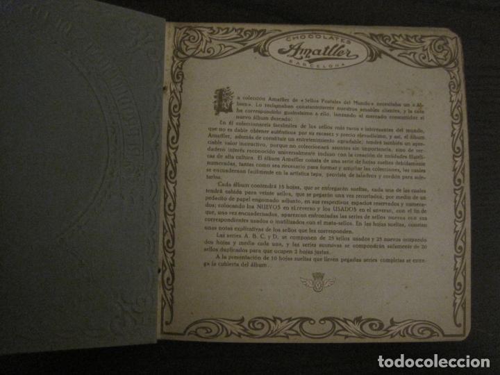 Coleccionismo Álbumes: CHOCOLATE AMATLLER-ALBUM SELLOS POSTALES DEL MUNDO-INCOMPLETO-VER FOTOS-(V-18.606) - Foto 3 - 187120633