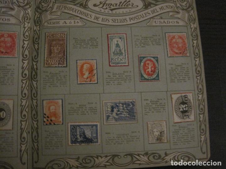 Coleccionismo Álbumes: CHOCOLATE AMATLLER-ALBUM SELLOS POSTALES DEL MUNDO-INCOMPLETO-VER FOTOS-(V-18.606) - Foto 5 - 187120633