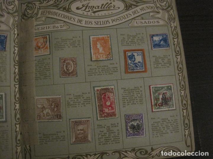 Coleccionismo Álbumes: CHOCOLATE AMATLLER-ALBUM SELLOS POSTALES DEL MUNDO-INCOMPLETO-VER FOTOS-(V-18.606) - Foto 11 - 187120633