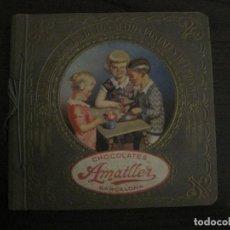 Coleccionismo Álbumes: CHOCOLATE AMATLLER-ALBUM SELLOS POSTALES DEL MUNDO-INCOMPLETO-VER FOTOS-(V-18.606). Lote 187120633