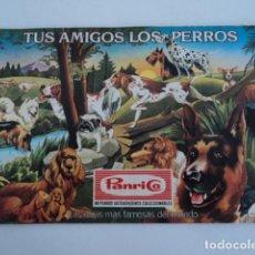 Coleccionismo Álbumes: PRECIOSO ALBUM DE CROMOS PANRICO TUS AMIGOS LOS PERROS ALBUM INCOMPLETO LAS RAZAS DEL MUNDO. Lote 188789131