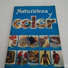 Coleccionismo Álbumes: RARO DIFICIL ALBUM CROMOS NATURALEZA Y COLOR FOURNIER VICTORIA 1979 INCOMPLETO. Lote 188791908