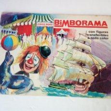 Coleccionismo Álbumes: ANTIGUO ALBUM DE CROMOS TRANSFERIBLES, BIMBORAMA, DE BIMBO. AÑO 1974. CONTIENE 76 TRANSFER. PEGADOS. Lote 188802433