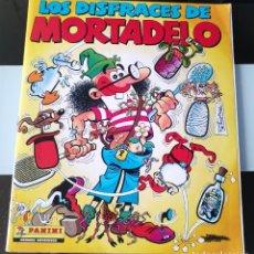 Coleccionismo Álbumes: ALBUM CROMOS COMIC DISFRACES DE MORTADELO FILEMON PANINI CASI COMPLETO FALTAN 4. Lote 189821378