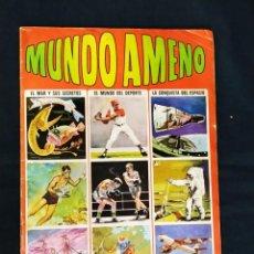 Coleccionismo Álbumes: ALBUM DE CROMOS - MUNDO AMENO - CON 120 CROMOS PEGADOS - BRUGUERA -. Lote 190406965