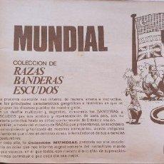 Coleccionismo Álbumes: ALBUM CROMOS ESTE RAZAS BANDERAS ESCUDOS SIN PORTADAS INCOMPLETO. Lote 190601852