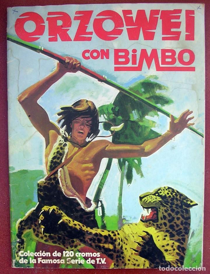ALBUM CROMOS ORZOWEI. BIMBO. FALTAN 16. (Coleccionismo - Cromos y Álbumes - Álbumes Incompletos)