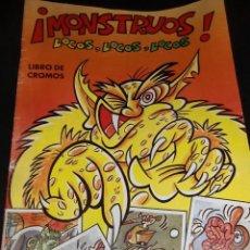 Coleccionismo Álbumes: ALBUM VACIO MOSNTRUOS LOCOS LOCOS - CROMOS ROS S.A. 85 PTAS . Lote 191360111