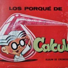 Coleccionismo Álbumes: LOS PORQUE DE CALCULIN - ALBUM DE CROMOS DE MI LIBRO GORDO DE PETETE, CONTIENE 8 CROMOS DE 96. Lote 191605981