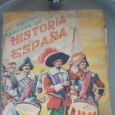 Coleccionismo Álbumes: ALBUM HECHOS FAMOSOS DE LA HISTORIA DE ESPAÑA EDIT. FHER TIENE 98 CROMOS ALGO DETERIORADO Y SOBADO. Lote 193629173