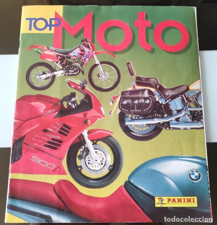 ÁLBUM CROMOS ED. PANINI TOP MOTO (Coleccionismo - Cromos y Álbumes - Álbumes Incompletos)