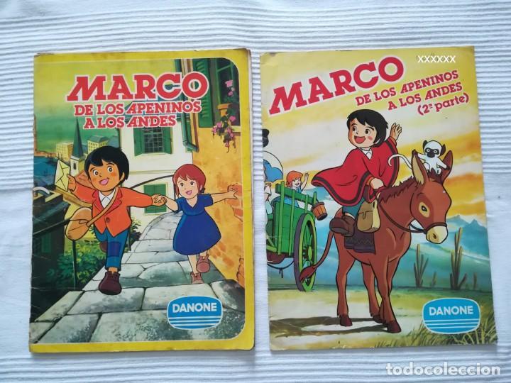 2 ALBUMS MARCO 1ª PARTE COMPLETO 2ª PARTE INCOMPLETO (Coleccionismo - Cromos y Álbumes - Álbumes Incompletos)