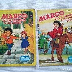 Coleccionismo Álbumes: 2 ALBUMS MARCO 1ª PARTE COMPLETO 2ª PARTE INCOMPLETO. Lote 194236376