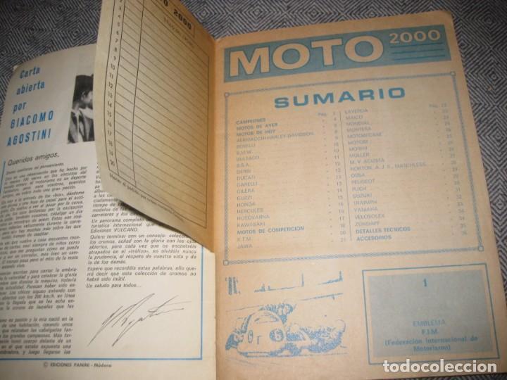 Coleccionismo Álbumes: album cromos moto 2000 . ediciones vulcano incompleto 60 de 200 - 1973 - Foto 3 - 194238698