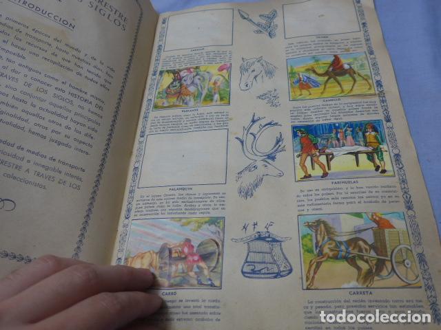 Coleccionismo Álbumes: * Antiguo album de cromos historia del transporte terrestre, original. Faltan varios cromos. ZX - Foto 3 - 194239477