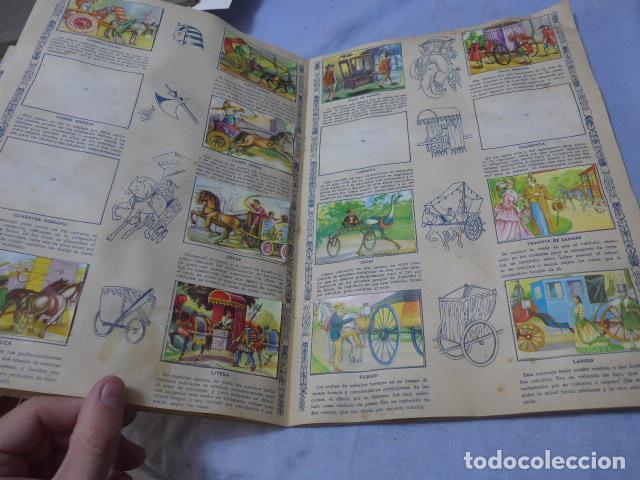 Coleccionismo Álbumes: * Antiguo album de cromos historia del transporte terrestre, original. Faltan varios cromos. ZX - Foto 4 - 194239477