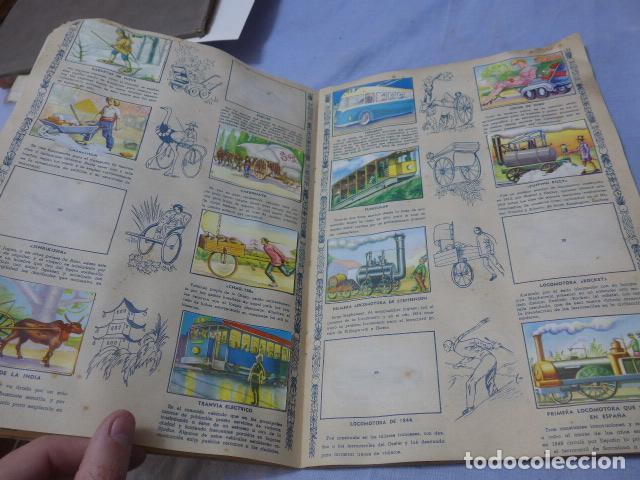 Coleccionismo Álbumes: * Antiguo album de cromos historia del transporte terrestre, original. Faltan varios cromos. ZX - Foto 5 - 194239477