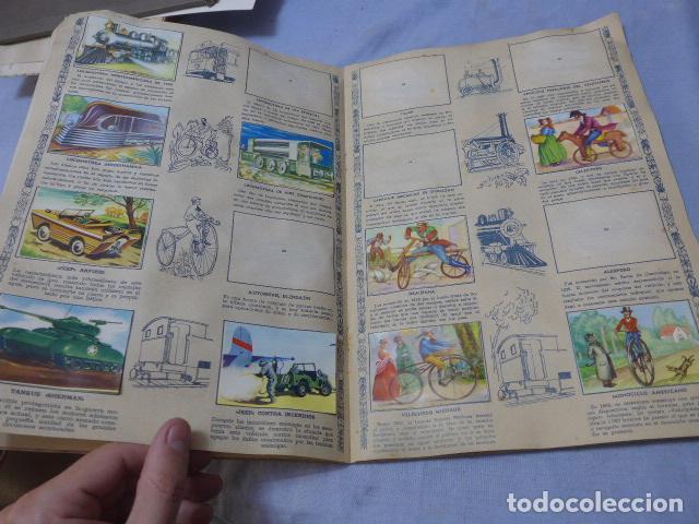 Coleccionismo Álbumes: * Antiguo album de cromos historia del transporte terrestre, original. Faltan varios cromos. ZX - Foto 6 - 194239477