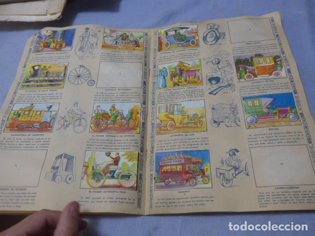 Coleccionismo Álbumes: * Antiguo album de cromos historia del transporte terrestre, original. Faltan varios cromos. ZX - Foto 8 - 194239477