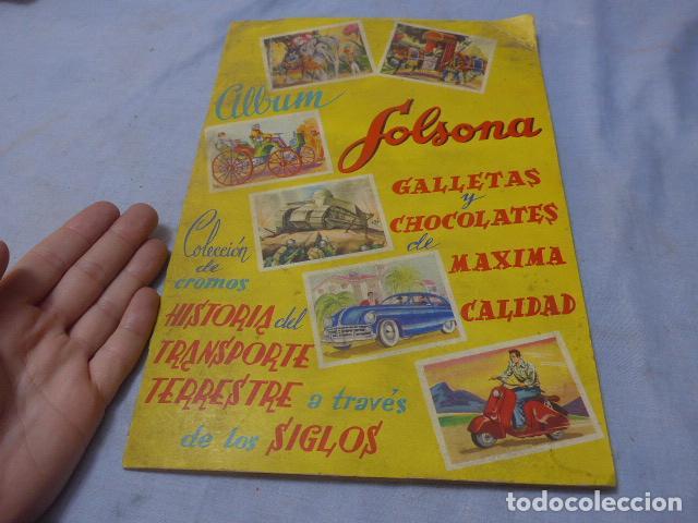 * ANTIGUO ALBUM DE CROMOS HISTORIA DEL TRANSPORTE TERRESTRE, ORIGINAL. FALTAN VARIOS CROMOS. ZX (Coleccionismo - Cromos y Álbumes - Álbumes Incompletos)