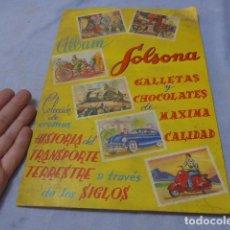 Coleccionismo Álbumes: * ANTIGUO ALBUM DE CROMOS HISTORIA DEL TRANSPORTE TERRESTRE, ORIGINAL. FALTAN VARIOS CROMOS. ZX. Lote 194239477