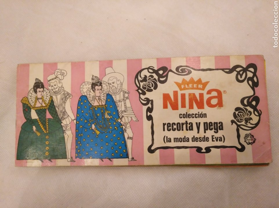 1.3 ÁLBUM CHICLES FLEER. NINA COLECCIÓN RECORTA Y PEGA, LA MODA DESDE EVA. RUIROMER 1968 (Coleccionismo - Cromos y Álbumes - Álbumes Incompletos)