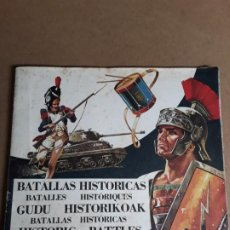 Coleccionismo Álbumes: ALBUM ANTIGUO BATALLAS HISTORICAS INCOMPLETO. Lote 194327471