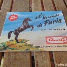 Coleccionismo Álbumes: ÁLBUM DE PANRICO EL MUNDO DE FURIA CABALLOS EN ACCION INCOMPLETO FALTAN 7 CROMOS. Lote 194341920