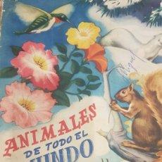 Coleccionismo Álbumes: ALBUM ANIMALES DE TODO EL MUNDO AÑOS 50. Lote 194352215