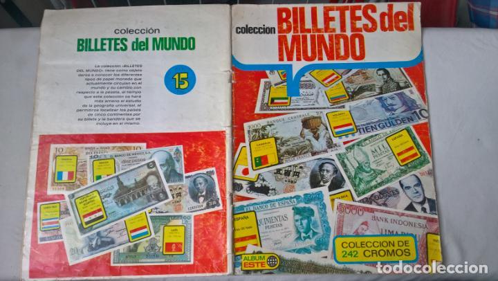 ALBUM COLECCION BILLETES DEL MUNDO. ED. ESTE (Coleccionismo - Cromos y Álbumes - Álbumes Incompletos)