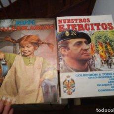 Coleccionismo Álbumes: 1974 ALBUM DE CROMOS PIPPI CALZASLARGAS Y NUESTROS EJERCITOS 1982. Lote 194365250