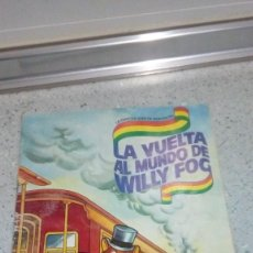 Coleccionismo Álbumes: ALBUM LA VUELTA AL MUNDO DE WILLY FOG DANONE SOLO TIENE 19 CROMOS DE LOS 96. Lote 194489446