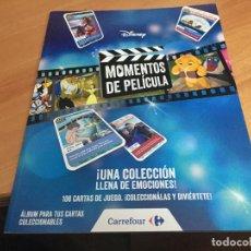 Coleccionismo Álbumes: MOMENTOS DE PELICULAS ALBUM PLANCHA + 80 CROMOS DIFERENTES NUEVOS (COIB59). Lote 194517555