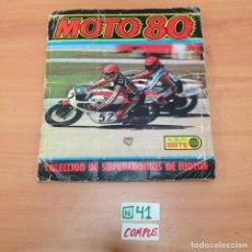 Coleccionismo Álbumes: ÁLBUM DE CROMOS INCOMPLETO MOTO 80. Lote 194641597