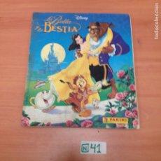 Coleccionismo Álbumes: ÁLBUM DE CROMOS INCOMPLETO LA BELLA Y LA BESTIA. Lote 194642471